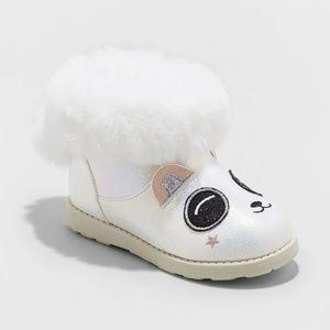 Cat & Jack Toddler Girls' Panda Ankle Fashion Boot